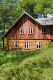 Beautiful wooden cottage in Czech republic royalty free stock image