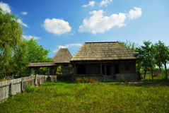 Beautiful wooden country house. Beautiful nature spot with traditional old wooden house Royalty Free Stock Photo