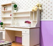 Beautiful wooden cupboard in children's room Royalty Free Stock Photo