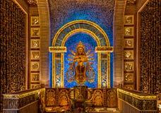 Beautiful Wooden Durga goddess Royalty Free Stock Images