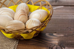 Beautiful wooden Easter eggs Stock Images