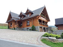 Beautiful wooden home Royalty Free Stock Image