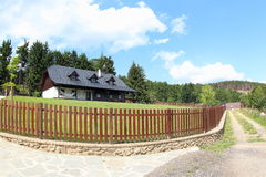 Beautiful Wooden House, Czech Republic stock image
