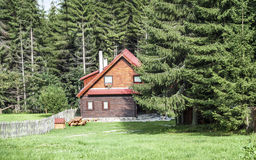 Beautiful wooden house Royalty Free Stock Photos