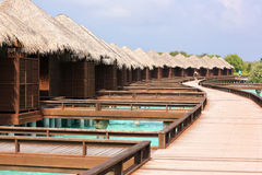 Beautiful wooden houses in Maldives Royalty Free Stock Image