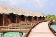 Beautiful wooden houses in Maldives Royalty Free Stock Photos