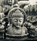 Hindu religious God isolated wooden object unique photo Stock Photography