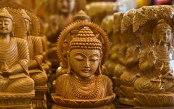 Hindu religious God isolated wooden object unique photo. A beautiful wooden made statue of Hindu religion isolated unique handicrafts object photo Stock Image