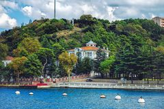 Beautiful wooden mansion at asian side of Istanbul royalty free stock images