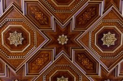 Free Beautiful Wooden Ornament On The Ceiling Stock Image - 166288491