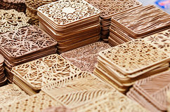 Beautiful wooden pads Stock Images
