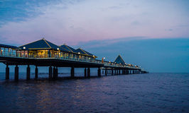 Beautiful wooden pier on Baltic sea royalty free stock image