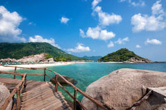 Beautiful pier in Thailand Stock Photos