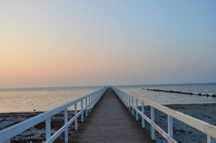 Beautiful wooden pier in the Sweden,Malmo. One of many beautiful wooden piers in the Sweden, Malmo Royalty Free Stock Photo