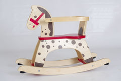 Beautiful wooden rocking horse Stock Photography