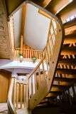 Beautiful wooden spiral staircase Stock Photography