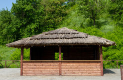 Beautiful wooden summerhouse Royalty Free Stock Photography