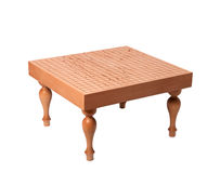 Beautiful wooden table for boardgame Royalty Free Stock Photo
