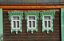 Beautiful wooden windows Stock Image