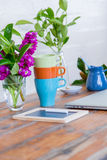 Beautiful Work Desk Still Life Royalty Free Stock Photo