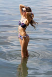 Beautiful wowan on the beach Royalty Free Stock Image