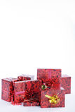 Beautiful wrapped christmas articles Stock Images
