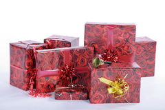 Beautiful wrapped christmas articles Stock Image