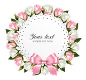 Beautiful wreath, made out of pink and white flowers Stock Image