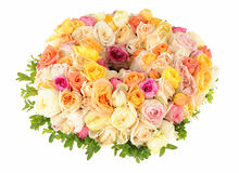Beautiful wreath of roses Royalty Free Stock Photos