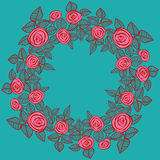Beautiful wreath of roses. Royalty Free Stock Images