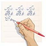 Beautiful writing. Illustrazion evidence of good writing Royalty Free Stock Images
