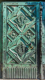 Beautiful wrought iron door- Cracow, Poland- Saint Mary Basilica-Mariacki Church Stock Photos