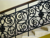 Beautiful wrought-iron railing. Wrought-iron railing from the 19th century Stock Images