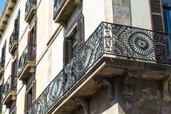 Beautiful wrought iron railing Stock Photos