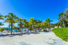 Beautiful Xcaret beach. Cancun, Mexico Royalty Free Stock Photo
