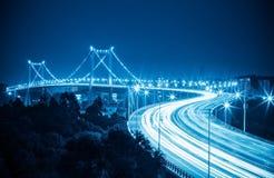 Beautiful xiamen haicang bridge at night Stock Photo