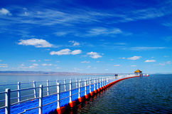 beautiful  Xinjiang Barkol  lake Stock Photo
