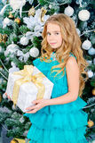 Beautiful xmas girl stock photos