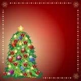 Beautiful Xmas tree for Merry Christmas celebration. Royalty Free Stock Photos