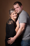 Beautiful xxl woman with her husband Stock Photos