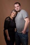 Beautiful xxl woman with her husband Royalty Free Stock Photo