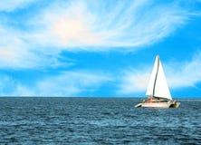 Beautiful yacht at open sea Stock Photography