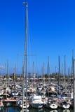 Beautiful yachts docked Stock Image