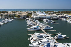 Beautiful yachts parked at the dock Stock Photography
