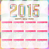 Beautiful 2015 Year calendar. 2015 calendar with colorful text design Royalty Free Stock Image