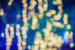 Beautiful yellow bokeh abstract light background. Wonderful Defocused abstract yellow christmas background. Abstract christmas li royalty free stock photos