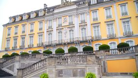 A beautiful yellow castle in Germany stock footage