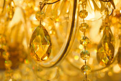 Beautiful yellow chandelier Stock Photo