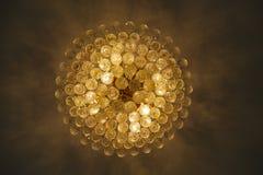 Beautiful yellow chandelier Royalty Free Stock Image