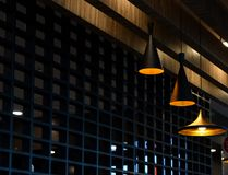 Isolated interior lights of a restaurant stock photograph Royalty Free Stock Photo
